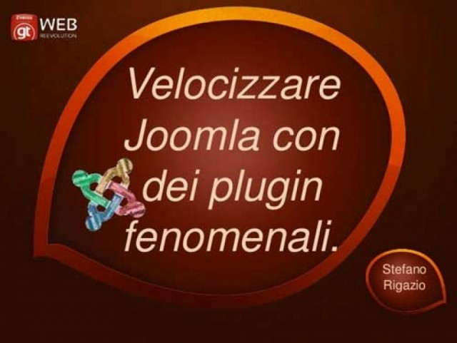 Plugin per velocizzare Joomla: Web Reevolution 2013